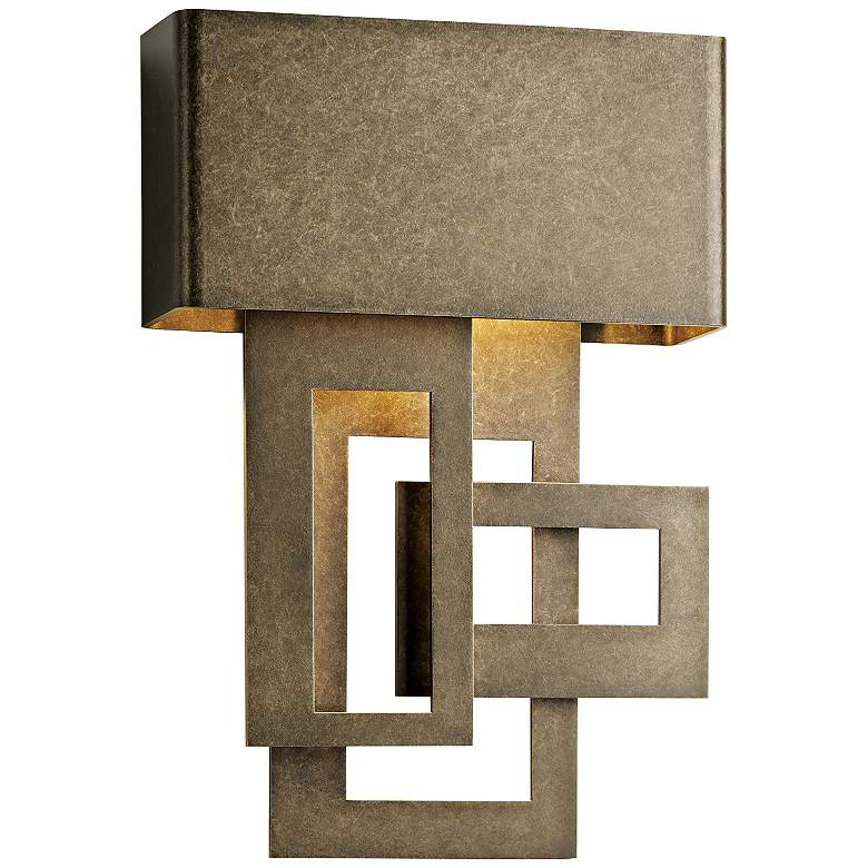 """Collage 13 3/4""""H Smoke Left Small LED Outdoor Wall Light"""