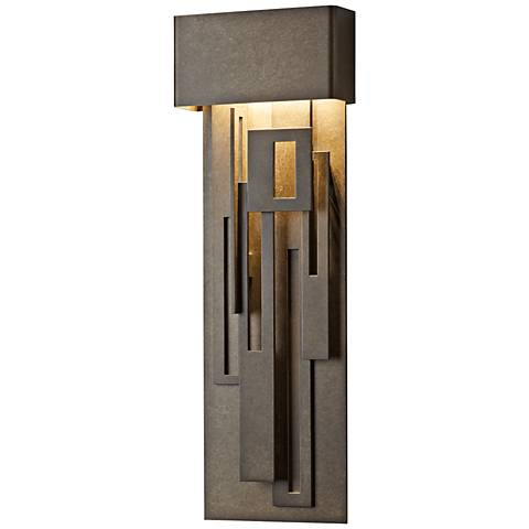 """Collage 27 1/4""""H Dark Smoke Large LED Outdoor Wall Light"""
