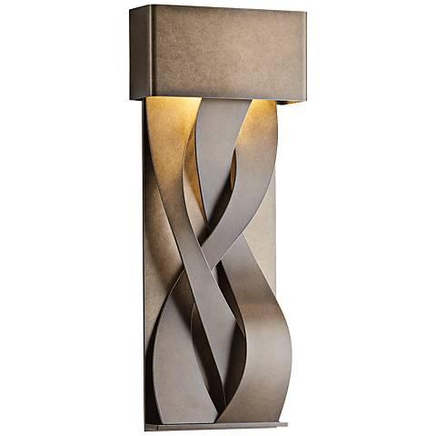 """Tress 22 3/4"""" High Mahogany Small LED Outdoor Wall Light"""