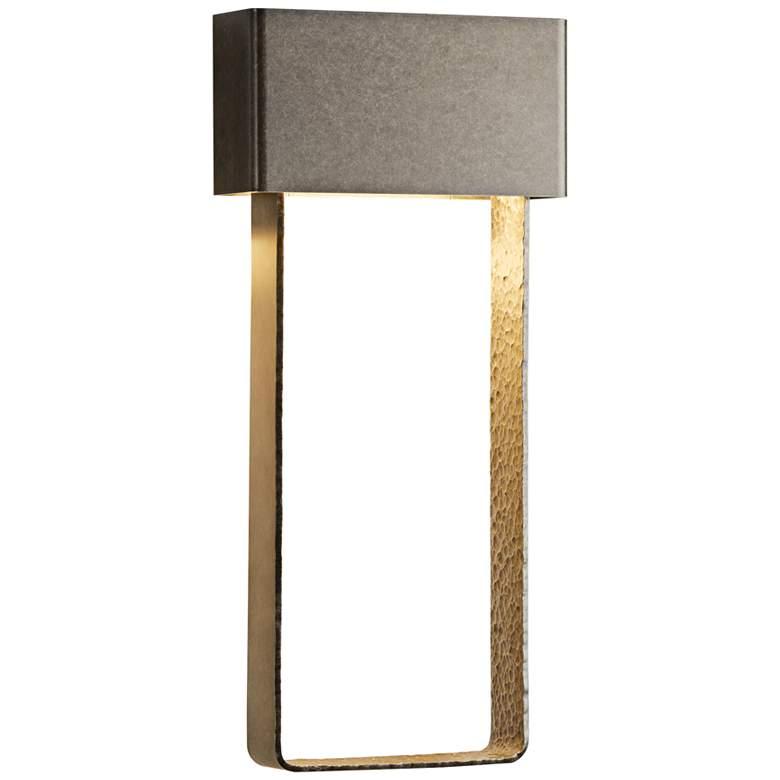"Quad 20 1/3""H Burnished Steel Large LED Outdoor Wall Light"