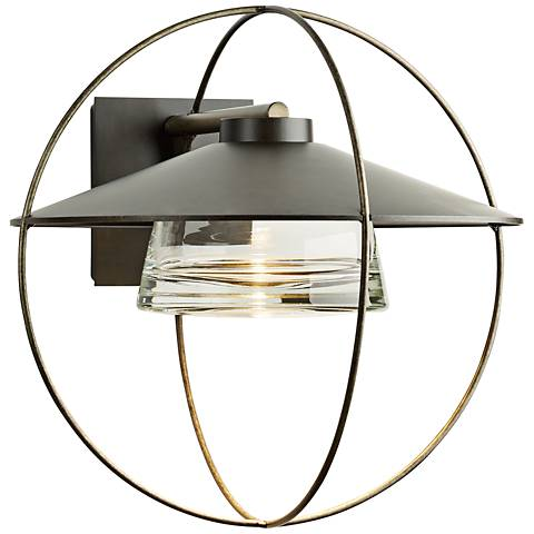 "Halo 17"" High Dark Smoke Large Outdoor Wall Light"