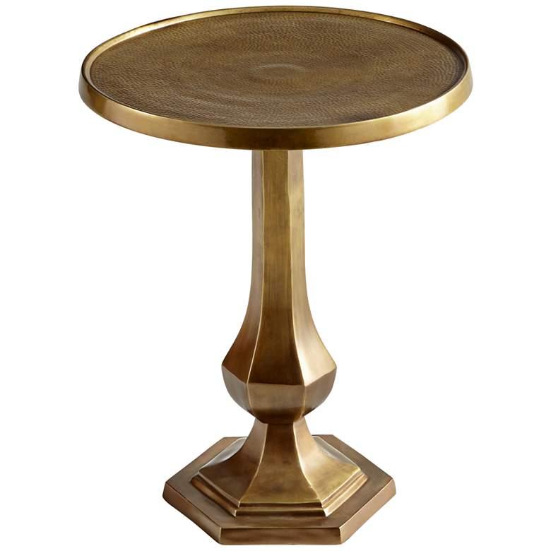 """Old Sport 20"""" Wide Antique Brass Round Pedestal"""