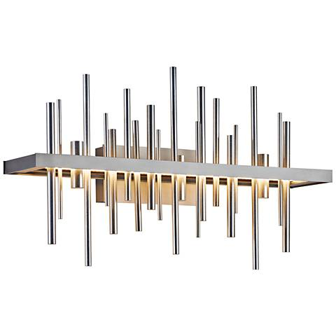 "Cityscape 26"" Wide Burnished Steel LED Bath Light"