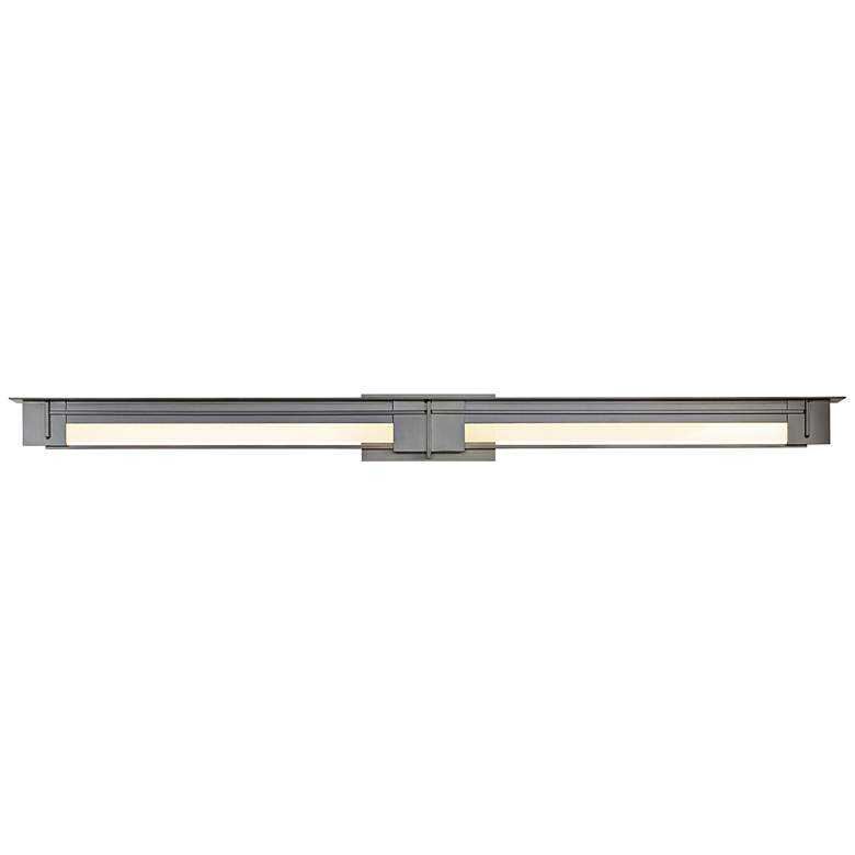 "Modern Prairie 55 1/2"" Wide Dark Smoke LED Bath Light"