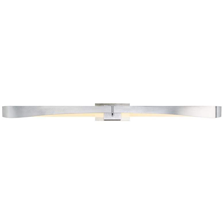 """Glide 4 1/2"""" High Vintage Platinum LED Wall Sconce"""