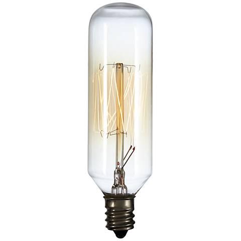 40 Watt T8 Edison Style Tube Candelabra Base Light Bulb