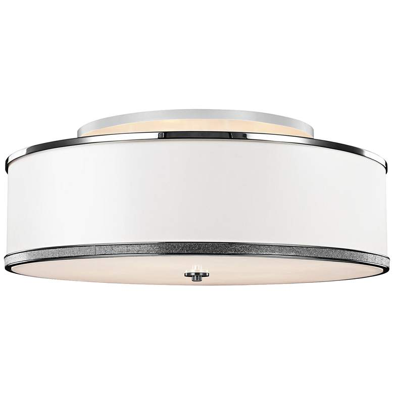 "Feiss Pave 30 1/4"" Wide Polished Nickel Ceiling Light"