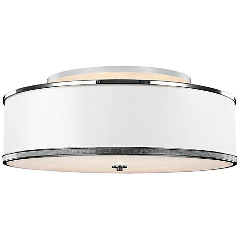 "Feiss Pave 30 1/4""W Polished Nickel Ceiling Light"