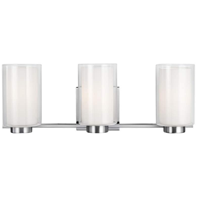 """Feiss Bergin 3-Light 21 1/2"""" Wide Satin Nickel"""