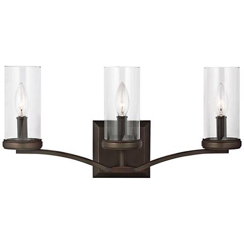 "Feiss Jacksboro 3-Light 20 1/2"" Wide Copper Bath Light"