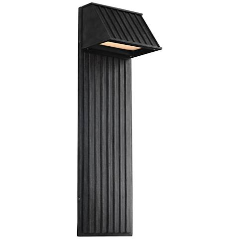 """Feiss Tove 26""""H Zinc Industrial LED Outdoor Wall Light"""