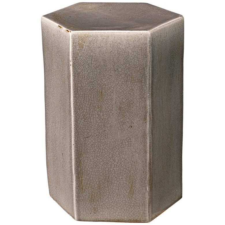 "Jamie Young Porto 15"" Wide Dark Gray Ceramic Side Table"