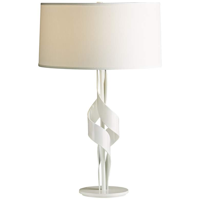 """Hubbardton Forge 24 1/4""""H Flux Gloss White Accent Table Lamp"""