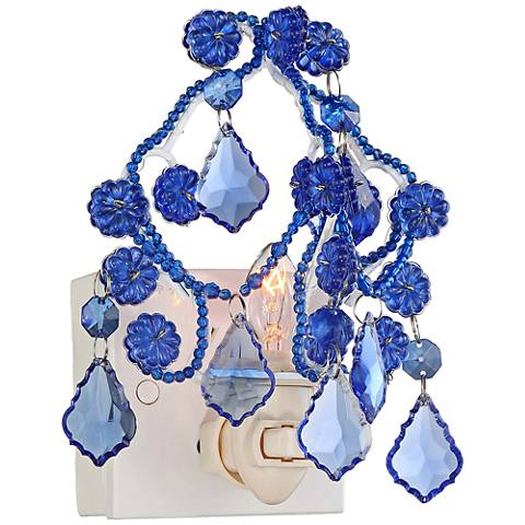Maize light blue chandelier night light maize light blue chandelier night light aloadofball Choice Image