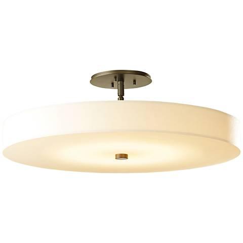 "Hubbardton Forge Disc 23""W LED Gloss White Ceiling Light"