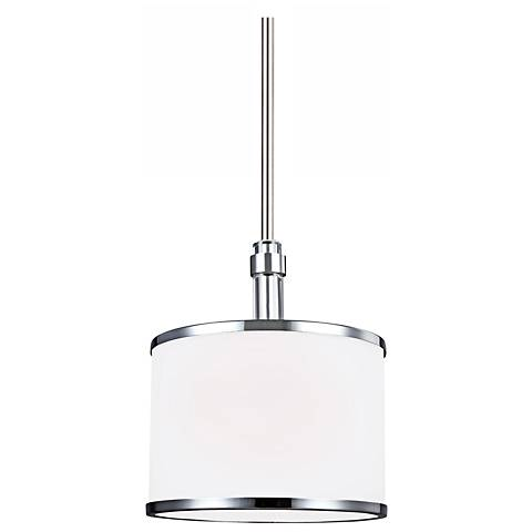 "Feiss Prospect Park 8 1/2""W Nickel/Chrome Mini Pendant"