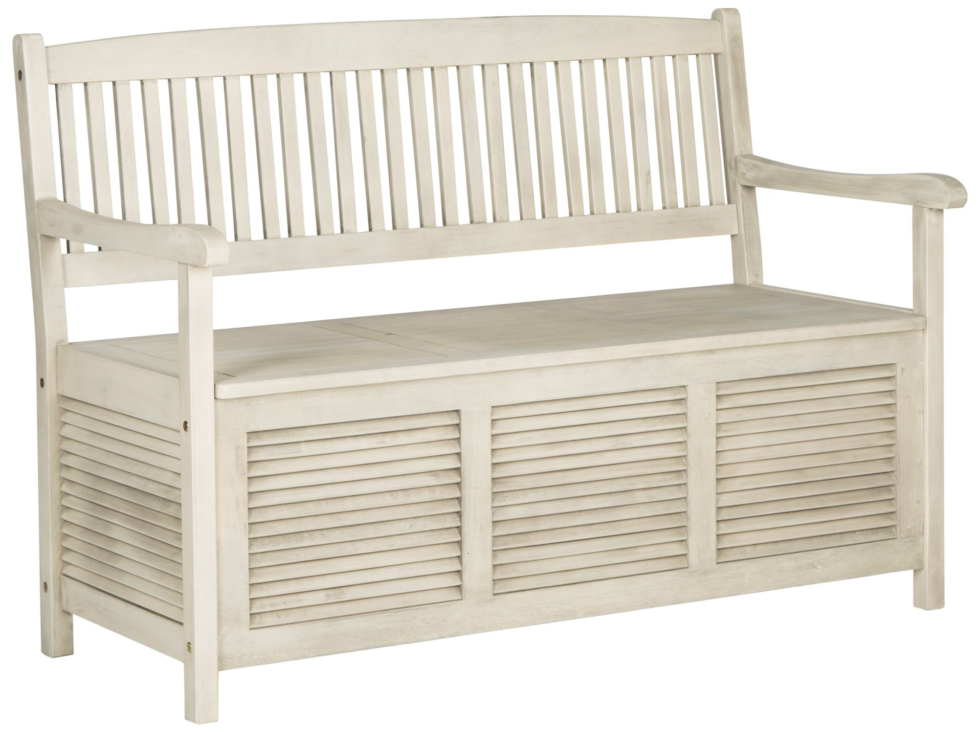 White outdoor furniture Navy Westmore Distressed White Outdoor Storage Bench Lamps Plus White Ivory Outdoor Furniture Lamps Plus