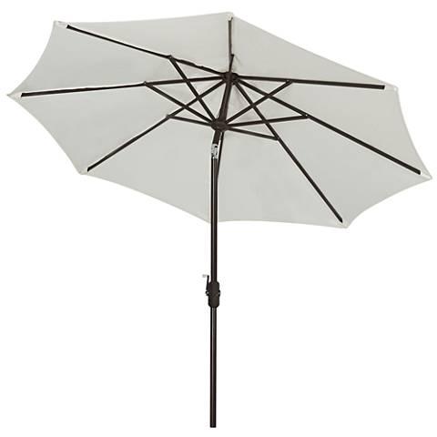 Ortega Natural 9' Aluminum Crank Umbrella