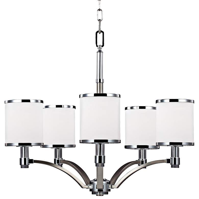 "Feiss Prospect Park 25 1/4""W Nickel/Chrome Chandelier"
