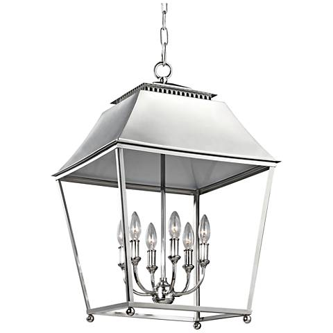 "Feiss Galloway 18 1/2"" Wide Nickel 6-Light Indoor Pendant"