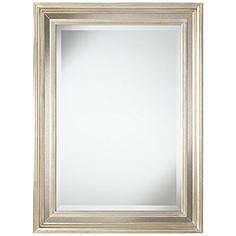 "Holcomb Antique Silver 30"" x 40"" Rectangular Wall Mirror"