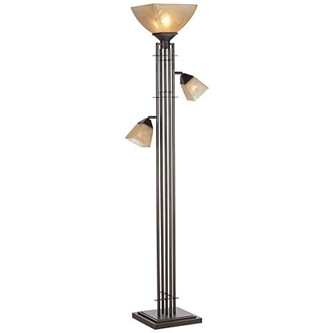 City Lines Bronze 3-Light Torchiere Floor Lamp