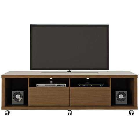 Cabrini 1.8 Nut Brown Wood 2-Drawer TV Stand