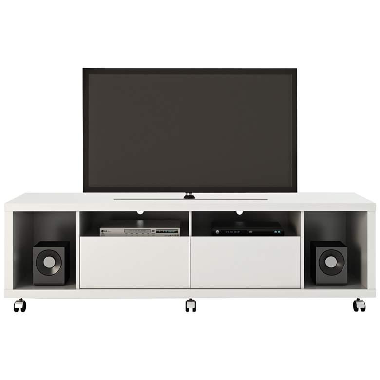 "Cabrini-1.8 71"" Wide White Gloss Modern Media TV Stand"