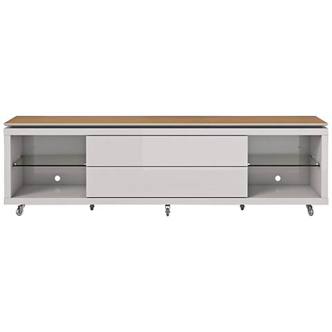Lincoln 1.9 Off-White 2-Drawer TV Stand with Silicon Casters