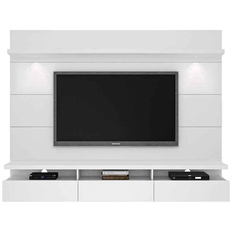 Cabrini 2.2 White Gloss Floating Wall Entertainment Center