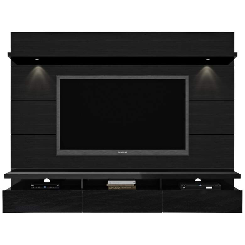 Cabrini 2.2 Black Floating Wall Entertainment Center