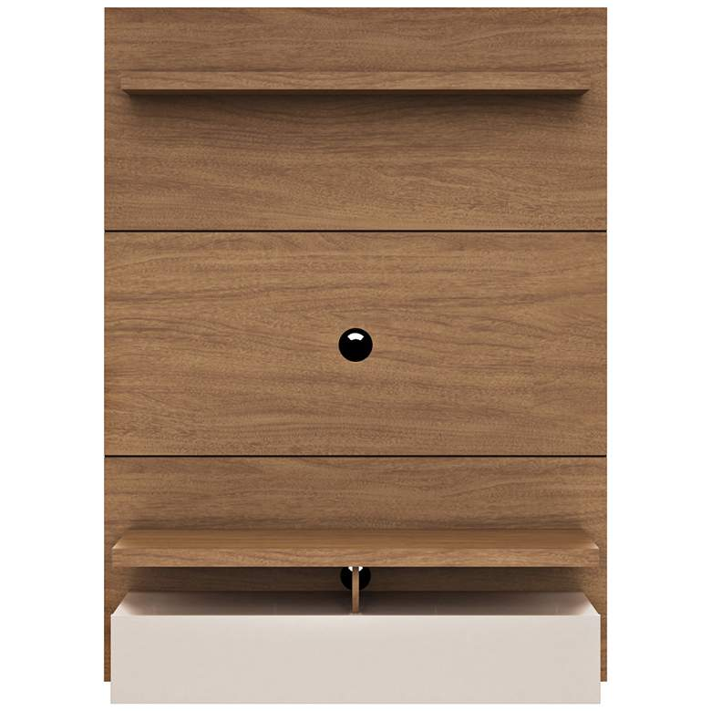 City 1.2 Maple Cream Wood Floating Wall Entertainment Center
