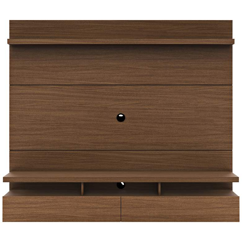 City 1.8 Nut Brown Wood Floating Wall Entertainment