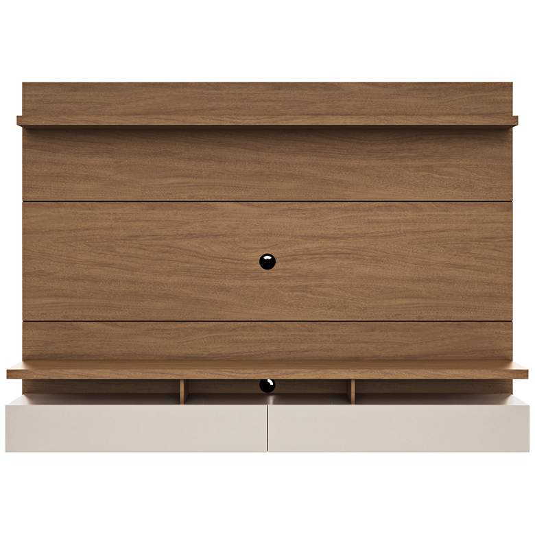 City 2.2 Maple Cream Wood Floating Wall Entertainment