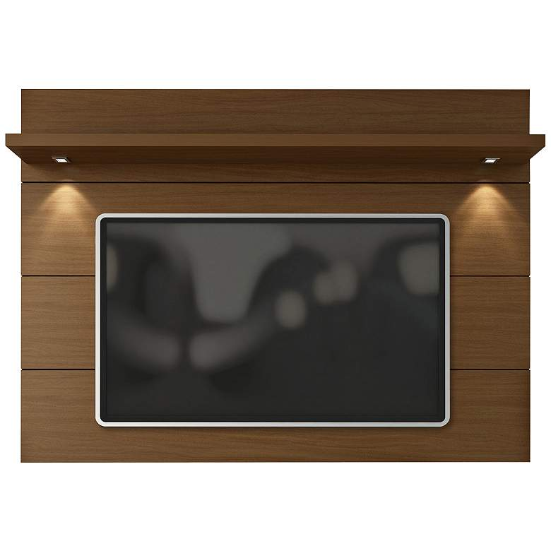 Cabrini 1.8 Nut Brown Wood Floating Wall TV Panel