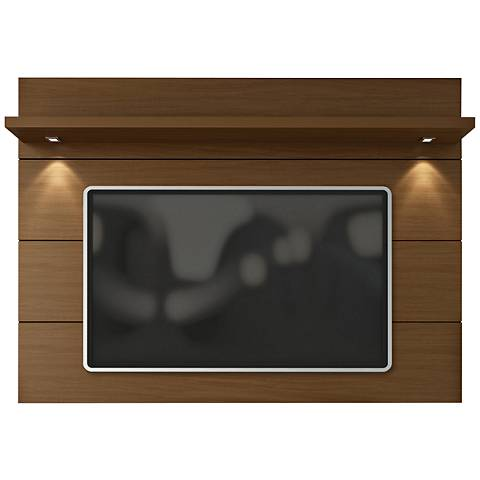 Cabrini 1.8 Nut Brown Wood Floating Wall TV Panel