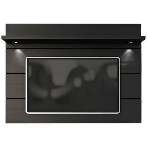 Cabrini 1.8 Black Matte Wood Floating Wall TV Panel
