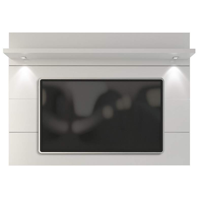 Cabrini 2.2 White Gloss Wood Floating Wall TV Panel