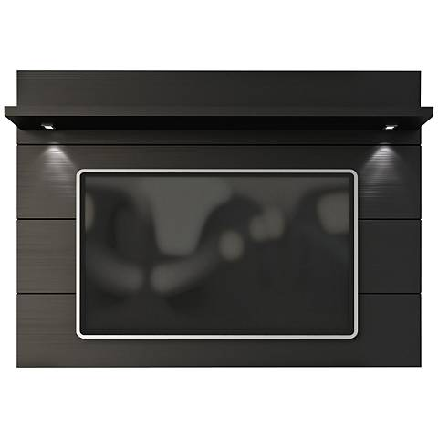 Cabrini 2.2 Black Matte Wood Floating Wall TV Panel