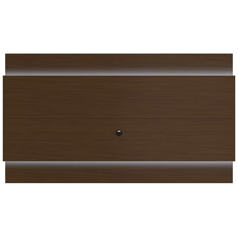 Lincoln 2.4 Nut Brown Floating Wall TV Panel with LED Lights