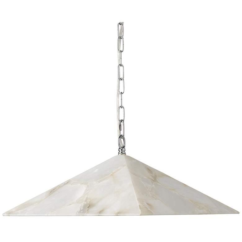 "Jamie Young Borealis 15""W Alabaster Pyramid Pendant Light"