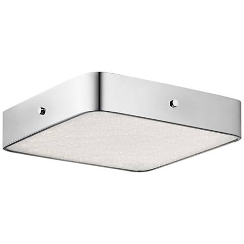 "Crystal Moon Chrome 15 3/4"" Wide LED Square Ceiling Light"