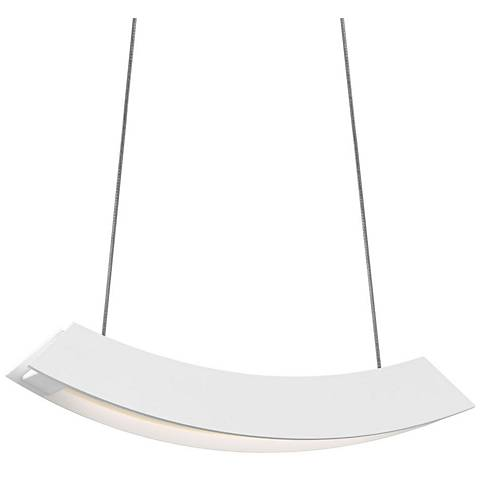 "Sonneman Kabu 12"" Wide Textured White LED Island Pendant"