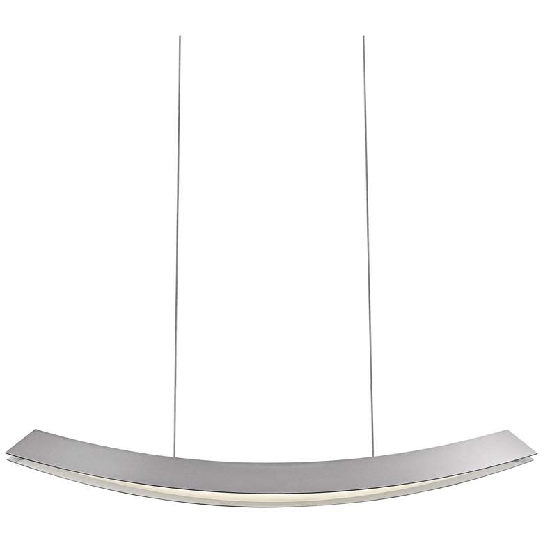 "Kabu 29""W Satin Aluminum LED Kitchen Island Light"