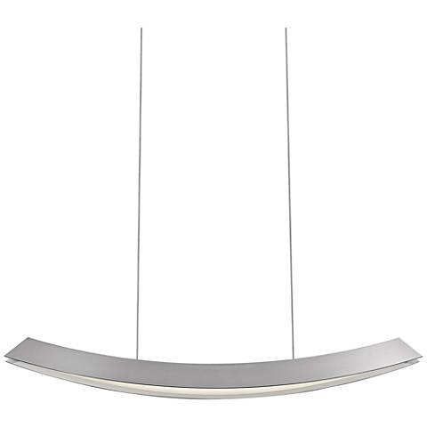 "Sonneman Kabu 29""W Bright Satin Aluminum LED Island Pendant"