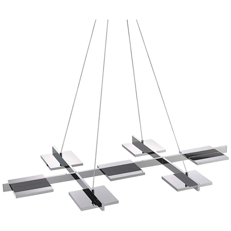 """Panels 39""""W Polished Chrome LED Kitchen Island Light Pendant"""