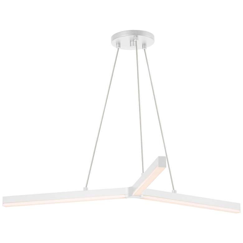 """Sonneman Y 32 1/2"""" Wide Satin White LED Pendant Light"""