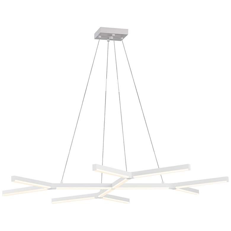 "Quad-Y 46 1/2""W Satin White LED Kitchen Island Light Pendant"