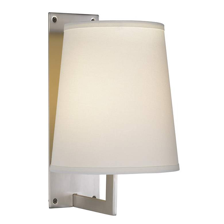 1V385 - Brushed Steel and Off-White Wall Lamp