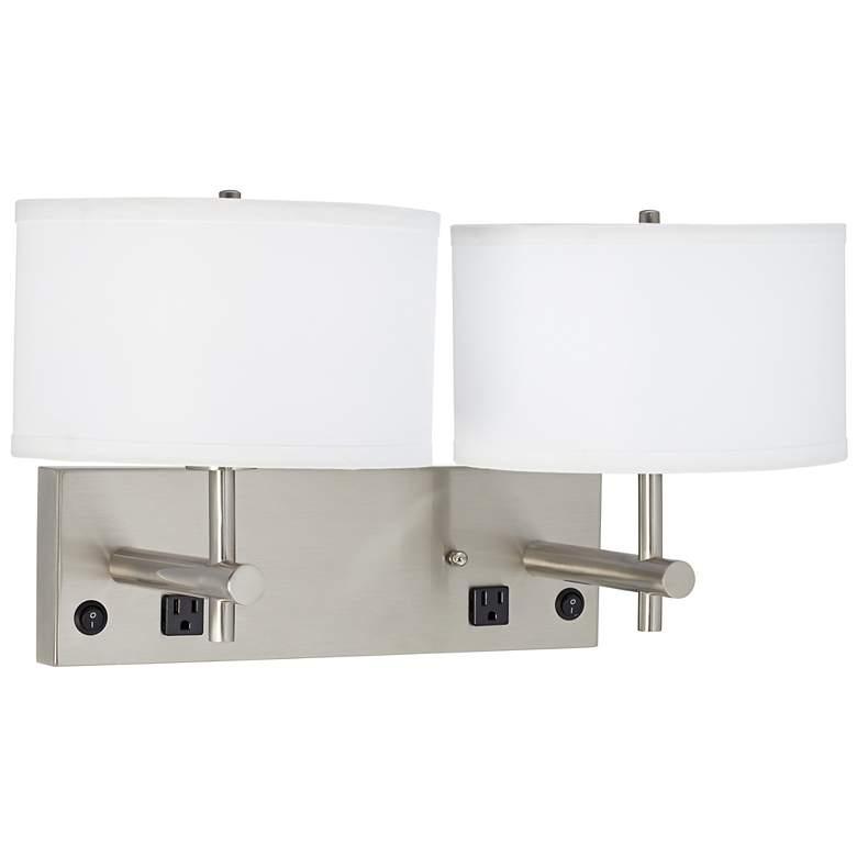 1V437 - Headboard Mounted Double Wall Lamp